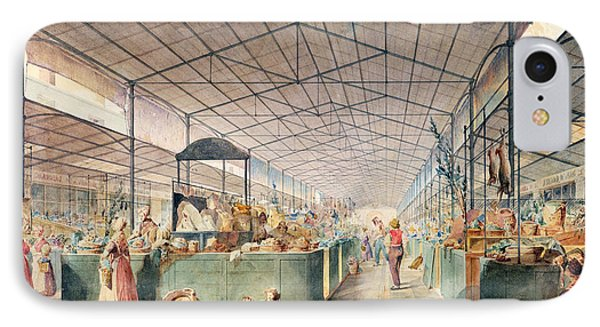 Interior Of Les Halles IPhone Case by Max Berthelin