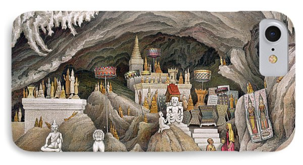 Interior Of The Grotto Of Nam Hou Phone Case by Louis Delaporte