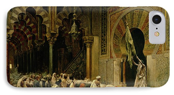 Interior Of The Mosque At Cordoba IPhone Case by Edwin Lord Weeks