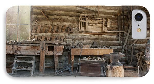 Interior Of Historic Pioneer Cabin IPhone Case by Juli Scalzi