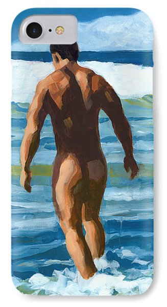 Into The Surf Phone Case by Douglas Simonson