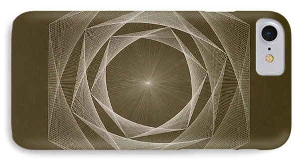Inverted Energy Spiral Phone Case by Jason Padgett