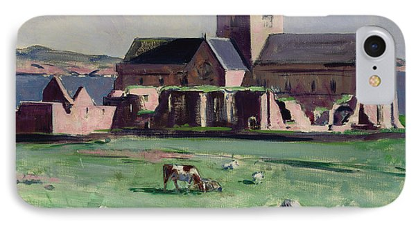Iona Abbey From The Northwest IPhone Case by Francis Campbell Boileau Cadell