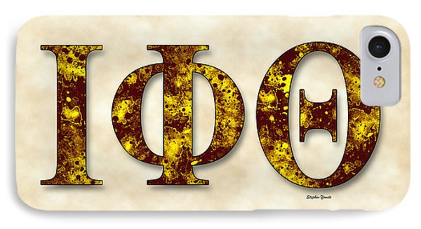 Iota Phi Theta - Parchment IPhone Case by Stephen Younts