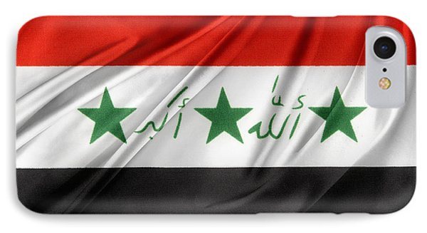 Iraq Flag IPhone Case by Les Cunliffe