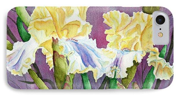Iris Cream Duo Phone Case by Kathryn Duncan