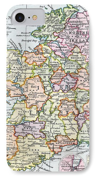Irish Free State And Northern Ireland From Bacon S Excelsior Atlas Of The World IPhone Case by English School