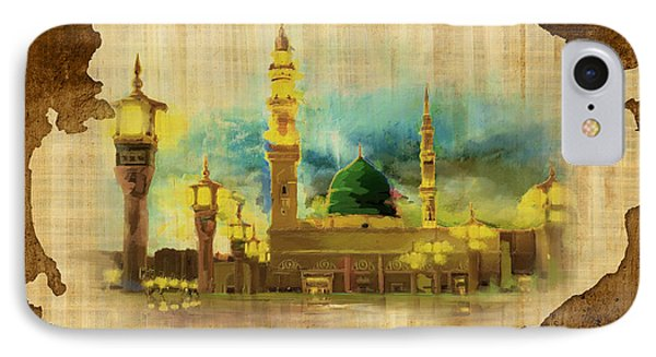 Islamic Calligraphy 035 IPhone Case by Catf