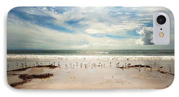 It Was A Sunny Day At The Beach From The Book My Ocean Phone Case by Artist and Photographer Laura Wrede