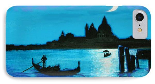 Italian Postcard-venetian Moon IPhone Case by Susi Franco