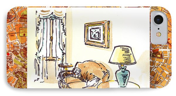 Italy Sketches Venice Hotel Phone Case by Irina Sztukowski