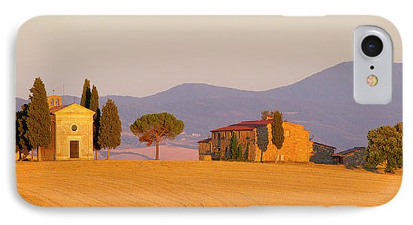 Italy, Tuscany Little Chapel At Sunset IPhone Case by Jaynes Gallery