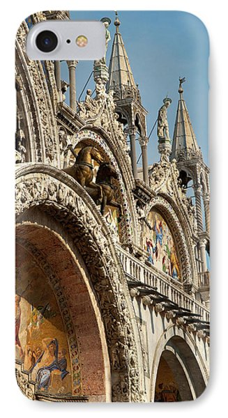 Italy, Venice Saint Mark's Basilica IPhone Case by David Noyes