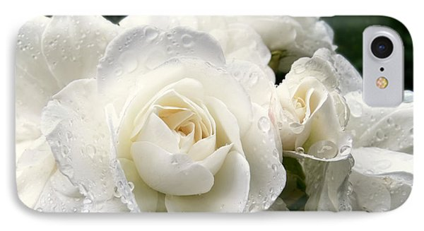 Ivory Rose Bouquet Phone Case by Jennie Marie Schell