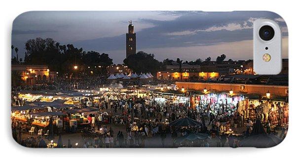 J Ma Fna Place Marrakesh Phone Case by Sophie Vigneault