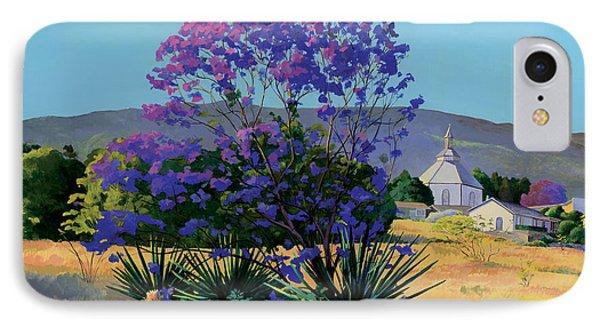Jacaranda Holy Ghost Church In Kula Maui Hawaii IPhone Case by Don Jusko