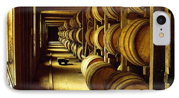 Jack Daniel Whiskey Maturing In Barrels In Old Warehouse At The Lynchburg Distillery Tennessee Usa IPhone Case by David Lyons
