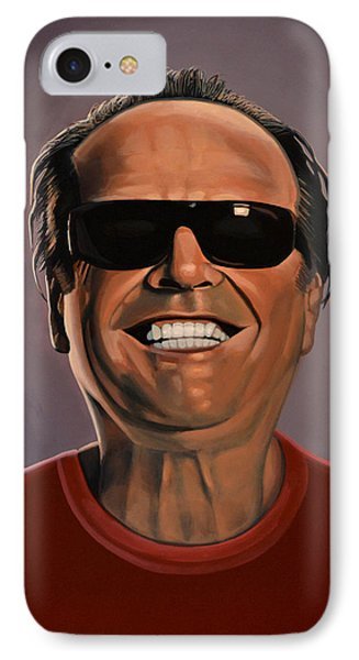 Jack Nicholson 2 IPhone Case by Paul Meijering