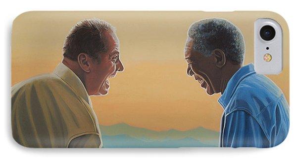 Jack Nicholson And Morgan Freeman IPhone 7 Case by Paul Meijering