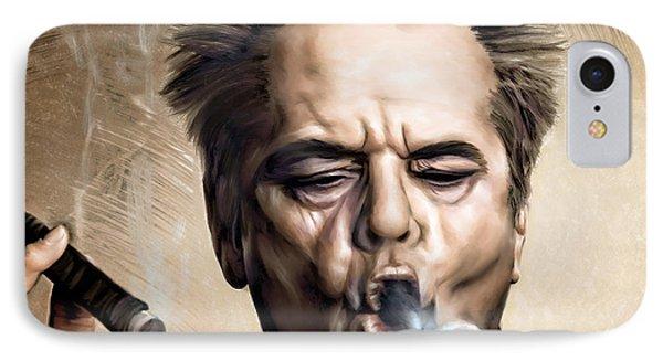 Jack Nicholson IPhone 7 Case by Andrzej Szczerski