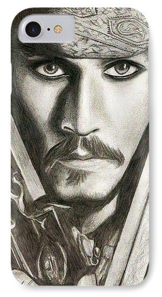 Jack Sparrow IPhone 7 Case by Michael Mestas