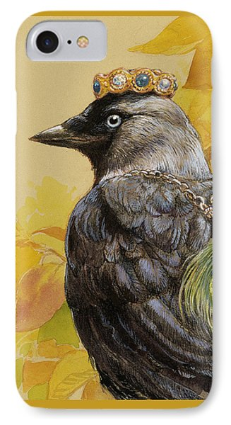 Jackdaw Triumphant IPhone Case by Tracie Thompson