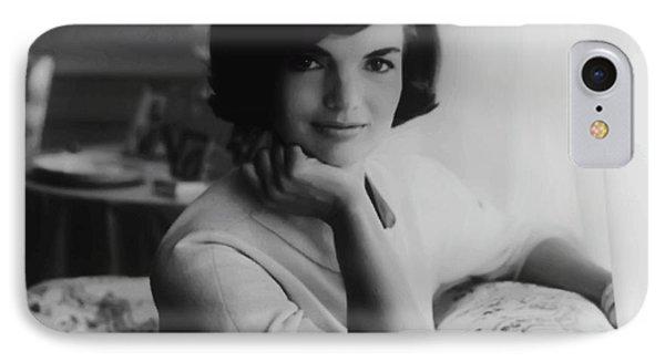 Jackie Kennedy  1961 IPhone Case by Daniel Hagerman