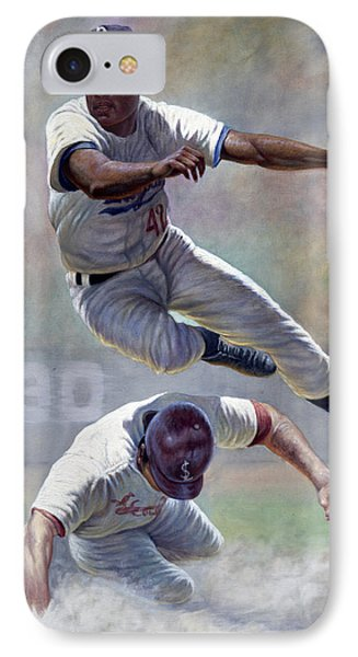Jackie Robinson IPhone Case by Gregory Perillo
