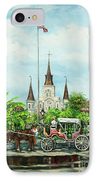 Jackson Square Carriage Phone Case by Dianne Parks