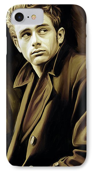 James Dean Artwork IPhone Case by Sheraz A