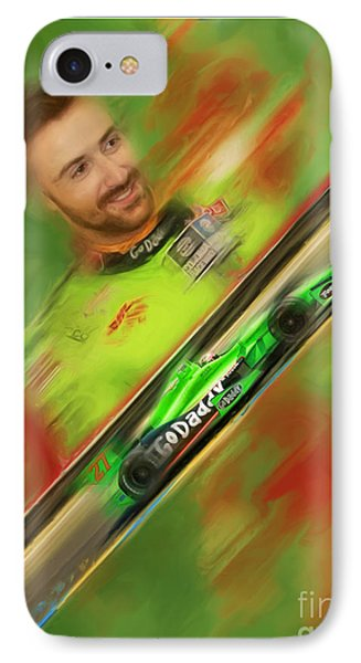 James Hinchcliffe IPhone Case by Blake Richards