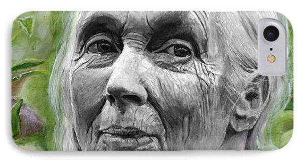 Jane Goodall IPhone 7 Case by Simon Kregar