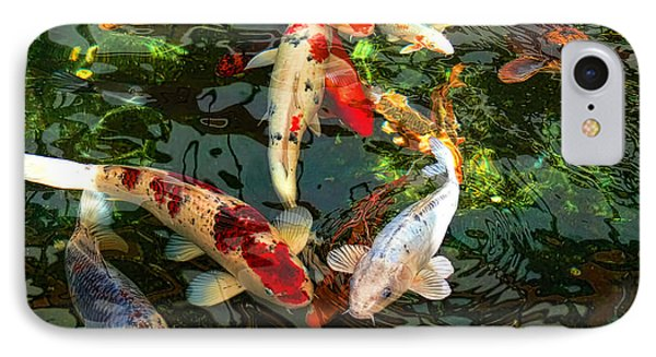 Japanese Koi Fish Pond IPhone 7 Case by Jennie Marie Schell