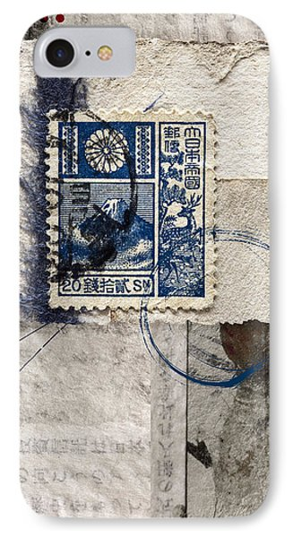 Japanese Postage 20 Sen Phone Case by Carol Leigh