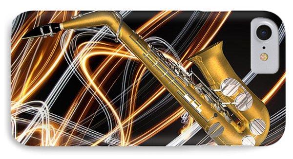 Jazz Saxaphone  Phone Case by Louis Ferreira
