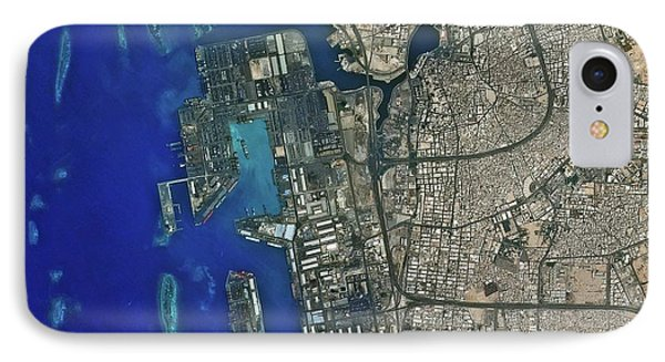 Jeddah Seaport IPhone Case by Kari/european Space Agency
