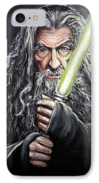 Jedi Master Gandalf IPhone Case by Tom Carlton