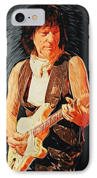 Jeff Beck IPhone 7 Case by Taylan Soyturk