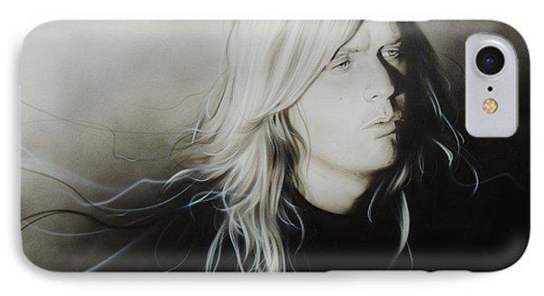 Jeff Hanneman - ' Jeff H ' IPhone Case by Christian Chapman Art