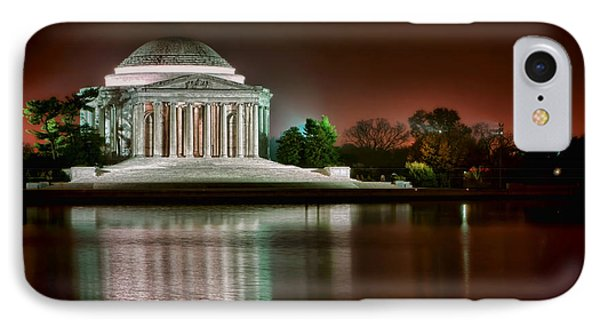 Jefferson Memorial At Night IPhone Case by Olivier Le Queinec