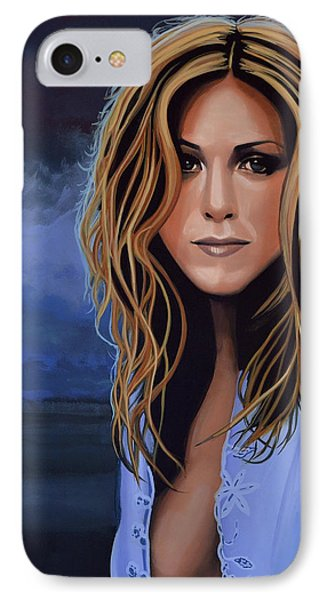 Jennifer Aniston Painting IPhone Case by Paul Meijering