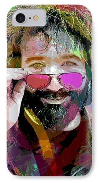 Jerry Garcia Art IPhone Case by David Lloyd Glover