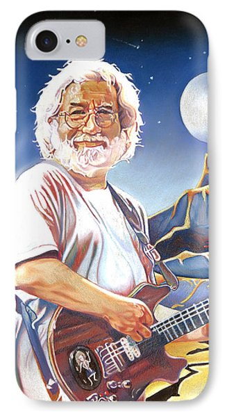Jerry Garcia Live At The Mars Hotel IPhone Case by Joshua Morton