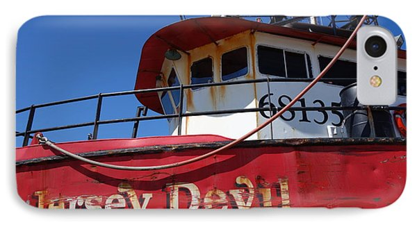 Jersey Devil Clam Boat Phone Case by Joan Reese