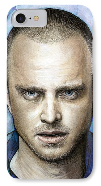 Jesse Pinkman - Breaking Bad IPhone Case by Olga Shvartsur