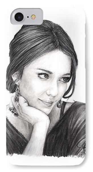 Jessica Alba IPhone Case by Rosalinda Markle