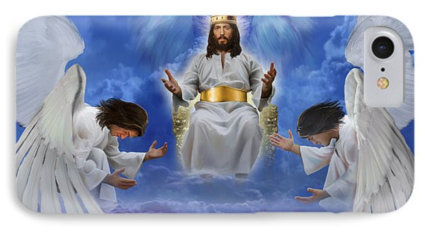 Jesus Enthroned IPhone Case by Tamer and Cindy Elsharouni