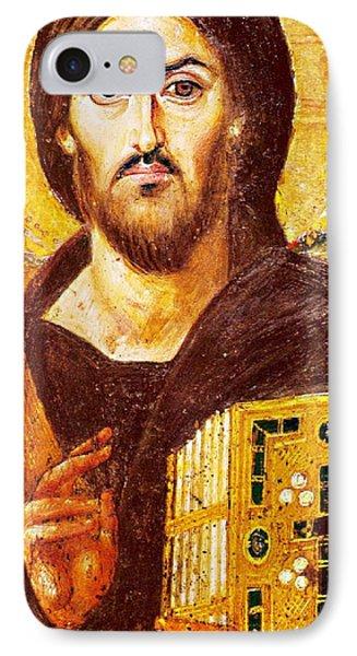 Jesus Icon At Saint Catherine Monastery Phone Case by Munir Alawi