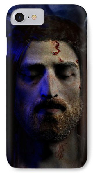 Jesus In Death Phone Case by Ray Downing