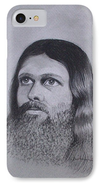 Jesus Looking To Heaven Phone Case by Kathy Weidner